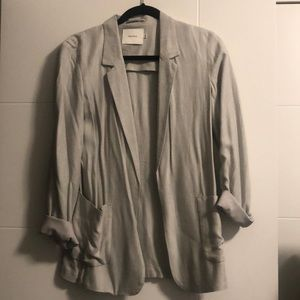 Talula unstructured light grey blazer
